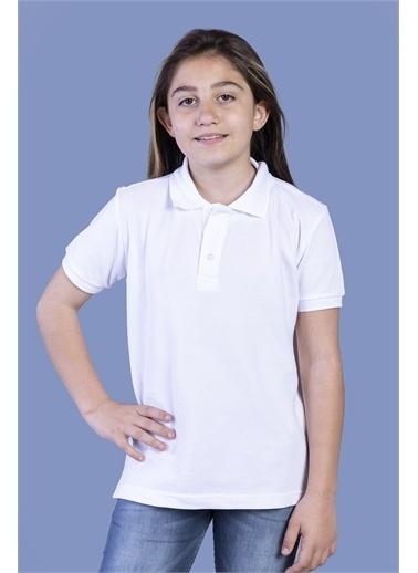 Toontoy Kids Toontoy Erkek Çocuk Düğmeli Polo Yaka Tişört Beyaz